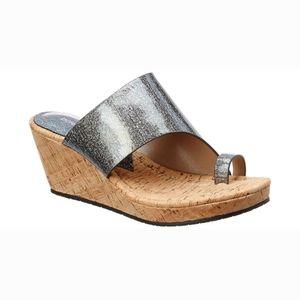 NWOB Donald J Pliner Giles Wedge Slides Sandals